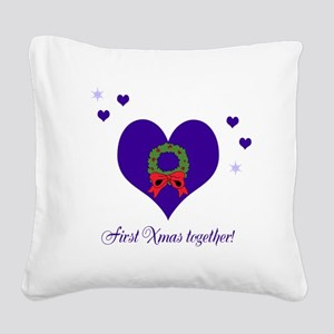 First Xmas together Square Canvas Pillow