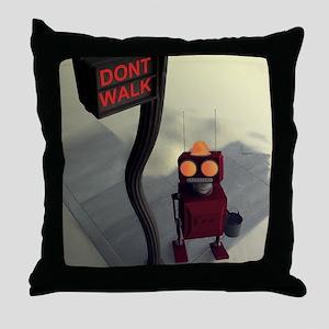 Dont Walk Throw Pillow