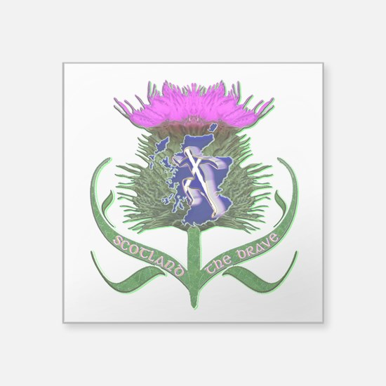 Scottish Runner And Thistle The Brave Sticker