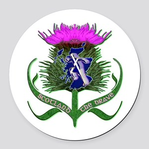 Scottish Runner And Thistle The Brave Round Car Ma