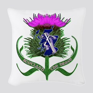 Scottish Runner And Thistle The Brave Woven Throw