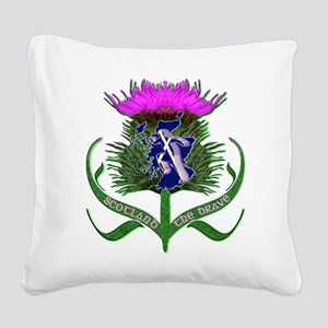 Scottish runner and thistle the brave Square Canva