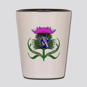 Scottish runner and thistle the brave Shot Glass