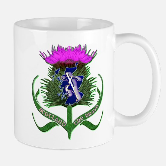 Scottish runner and thistle the brave Mugs