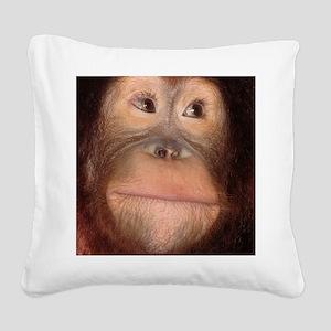 orangutan Square Canvas Pillow