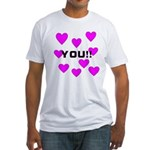 Love You! Fitted T-Shirt