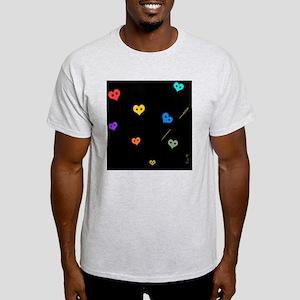 coeurscouleursfondnoir Light T-Shirt