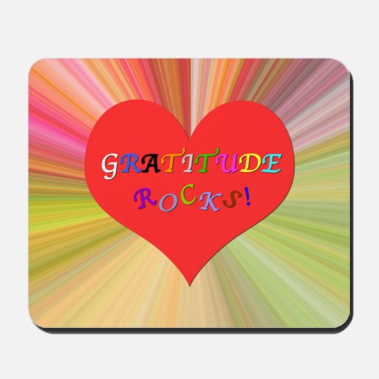 Gratitude Rocks 3 Mousepad