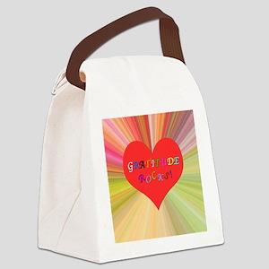 Gratitude Rocks 3 Canvas Lunch Bag