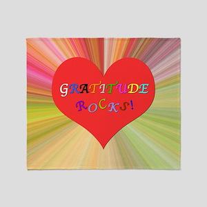 Gratitude Rocks 3 Throw Blanket
