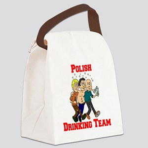 Polish Drinking Team Cartoon Shir Canvas Lunch Bag