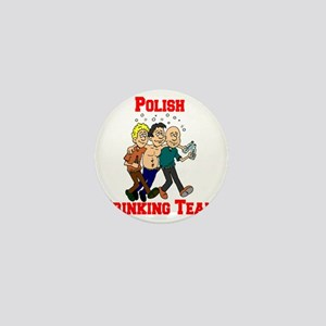 Polish Drinking Team Cartoon Shirt Mini Button