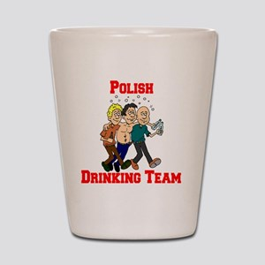 Polish Drinking Team Cartoon Shirt Shot Glass