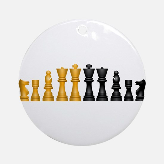 Chess Pieces Ornament (Round)