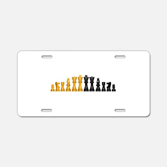 Chess Pieces Aluminum License Plate
