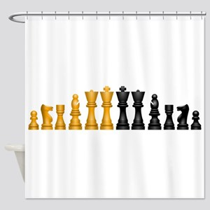 Chess Pieces Shower Curtain