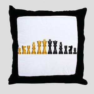 Chess Pieces Throw Pillow