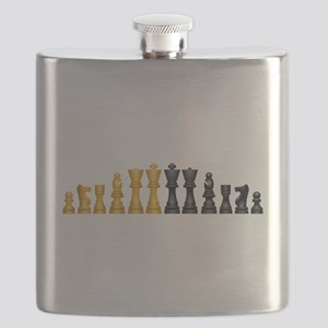 Chess Pieces Flask