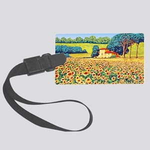 Faces in the Field ap Large Luggage Tag