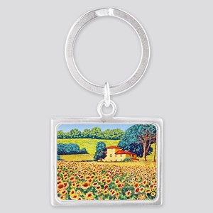 Faces in the Field ap Landscape Keychain