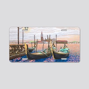 Twilight in Venice ap Aluminum License Plate