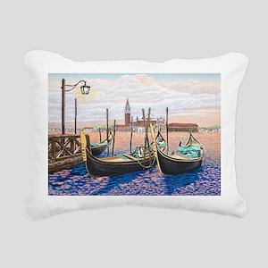 Twilight in Venice ap Rectangular Canvas Pillow