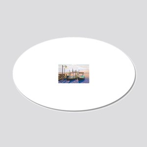 Twilight in Venice ap 20x12 Oval Wall Decal