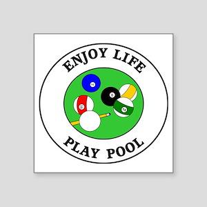 "pool1 Square Sticker 3"" x 3"""