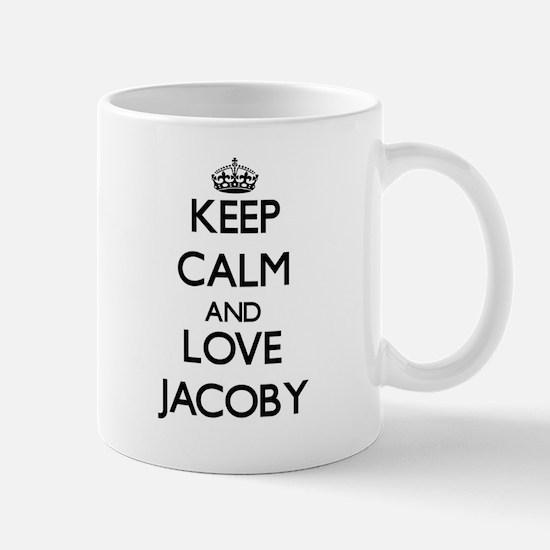 Keep Calm and Love Jacoby Mugs