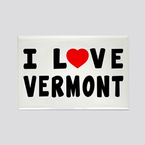 I Love Vermont Rectangle Magnet