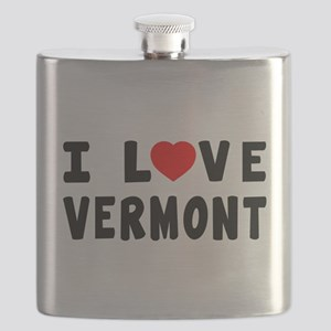 I Love Vermont Flask