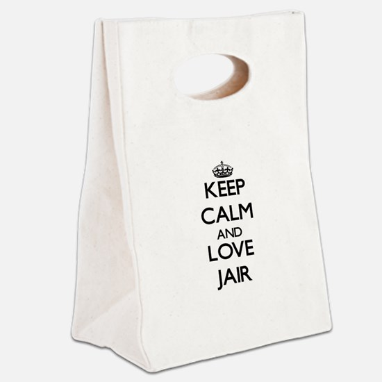 Keep Calm and Love Jair Canvas Lunch Tote