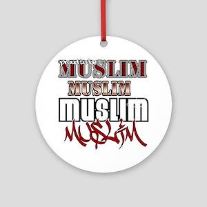 2-Muslim Round Ornament
