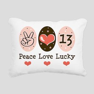 Lucky13PL Rectangular Canvas Pillow
