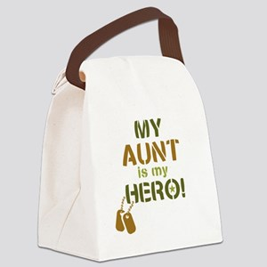 Dog Tag Hero Aunt Canvas Lunch Bag