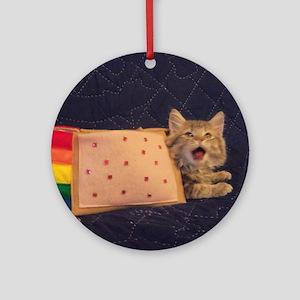 IRL Nyan Pop-Tart Cat  Round Ornament