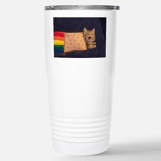 IRL Nyan Pop-Tart Cat  Stainless Steel Travel Mug
