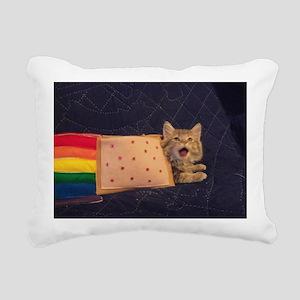 IRL Nyan Pop-Tart Cat  Rectangular Canvas Pillow