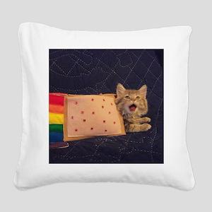 IRL Nyan Pop-Tart Cat  Square Canvas Pillow