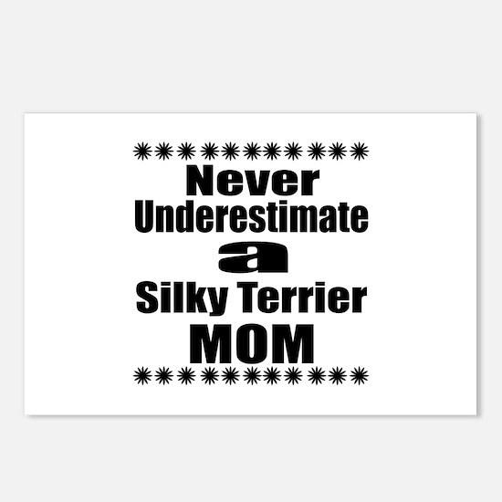 Silky terrier Mom Postcards (Package of 8)