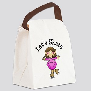 lets skate brunette girl Canvas Lunch Bag
