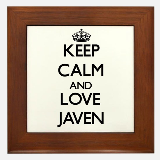 Keep Calm and Love Javen Framed Tile