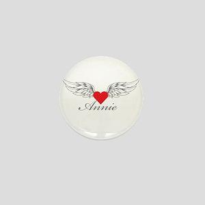 Angel Wings Annie Mini Button