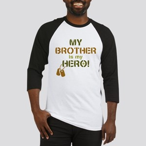 Dog Tag Hero Brother Baseball Jersey