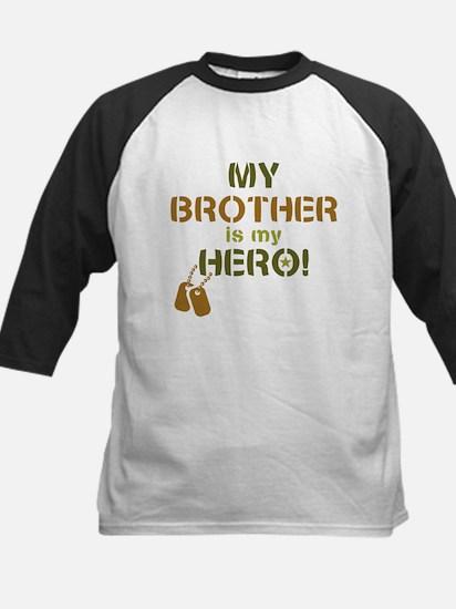 Dog Tag Hero Brother Kids Baseball Jersey