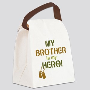 Dog Tag Hero Brother Canvas Lunch Bag