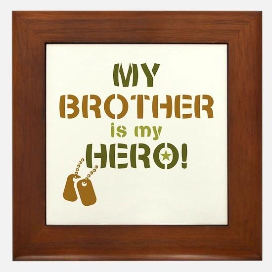 Dog Tag Hero Brother Framed Tile