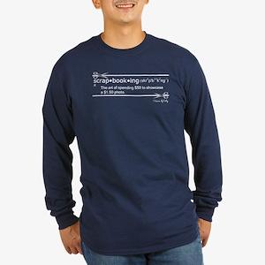 Spending $50 Long Sleeve Dark T-Shirt