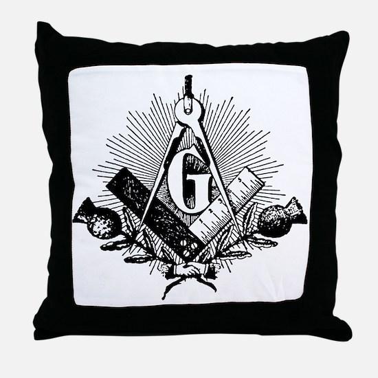 blue lodge Throw Pillow