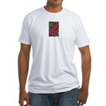 Red kangaroo Paw Fitted T-Shirt